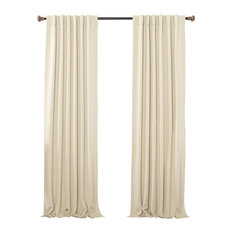 "Solid Thermal Blackout Curtain Panels, Beige, 108"", Set of 2"