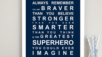 Always Remember - You're a Superhero Print