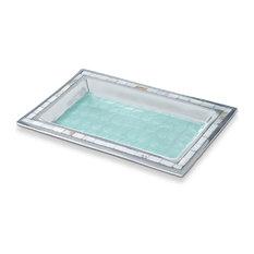 "Classic 12"" Vanity Tray, Aqua"