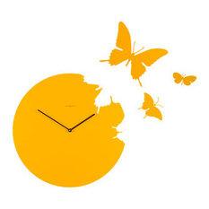 - желтые настенные часы - Настенные часы
