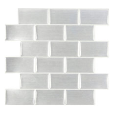 Peel & Impress Subway Tile, 4-Pack, Steel