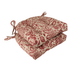 Fairhaven Red Reversible Chair Pad, Set of 2