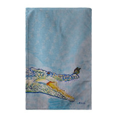 Betsy Drake Croc & Butterfly Beach Towel