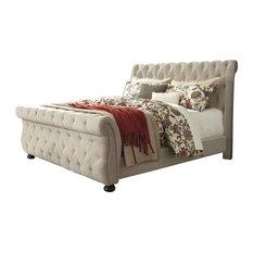 Willenburg Queen Upholstered Bed, Linen Promo