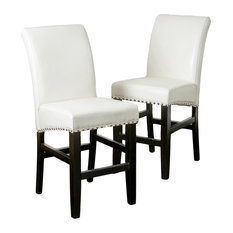GDFStudio - Clifton Leather Counter Stools Set of 2 Ivory - Bar Stools and  sc 1 st  Houzz & Upholstered Captains Chair Bar Stools | Houzz islam-shia.org