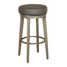 """angelo:HOME Linden Swivel Stool, Set Of 2, Pewter Silver, 30"""""""