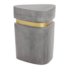 Triangle Shaped Concrete End Table
