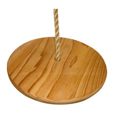 Cypress Wood Disc Tree Swing With Rope