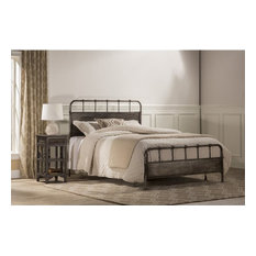 Hillsdale Grayson Queen Panel Bed, Rubbed Black