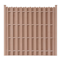 WPC Fence Panel, Brown, Square