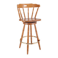 Colonial Solid Wood Barstool, Cherry