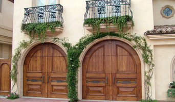 Access custom wood garage doors