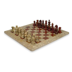 Worldwise Imports 26201A 20 in Pearl Mosaic with Chessboard Decoupage Wood...