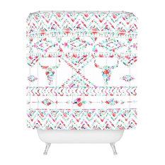 "Jacqueline Maldonado Southwest Boho Floral Shower Curtain, 72""x69"""