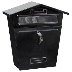 Home Vida Steel Post Box, Black