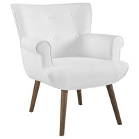 Cloud Upholstered Armchair, White