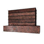 "Fine Design Fabrication - E104 Standard Rustic Rusty Steel Range Hood, 48"" - Rustic rusty steel range hood with hot rolled steel standing seams and industrial accent bolts"