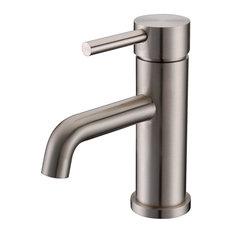 """Vanity Art Single-Handle Faucet, Brushed Nickel, 6.5"""""""