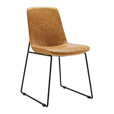 tan leather dining room chairs : nrys