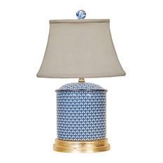 English Blue and White Jar Lamp
