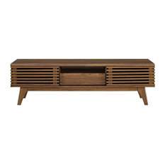 """LexMod - Render 59"""" TV Stand, Walnut - Entertainment Centers and Tv Stands"""