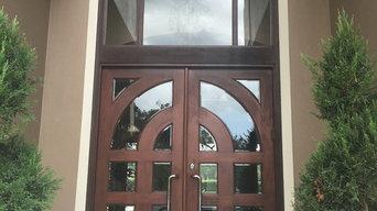 Custom Door Staining