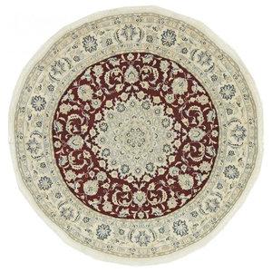 Nain 9La Persian Rug, Round Hand-Knotted, 140x140 cm