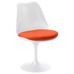 Great Midcentury Armchairs And Accent Chairs Knoll Tulip Chair White Base Chroma Cayenne Fabric