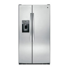 """36"""" Freestanding Side by Side Refrigerator, Stainless Steel"""