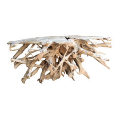 """The Birdhouse Chick - Teak Root Console Tables, 73"""" - Console Tables"""