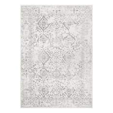 "Costa Floral Rug, Ivory, 6'7""x9'"