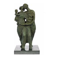Salvador Dali Abstract Couple With Baby Modern Art Bronze Sculpture Statue Decor