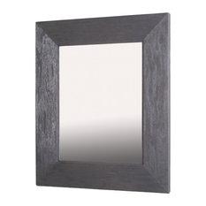 "14""x18"" Fox Hollow Furnishings Mirrored Medicine Cabinet, Rustic Gray"