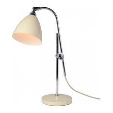 Task Adjustable Table Lamp, Cream