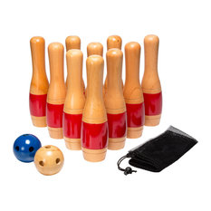 """Hey! Play! - Hey! Play! 11"""" Wooden Lawn Bowling Set - Outdoor and Lawn Games"""