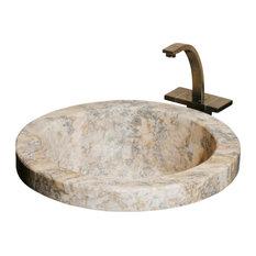 BPDMR2 Gold Travertine Honed #001 Bar & Prep Sink