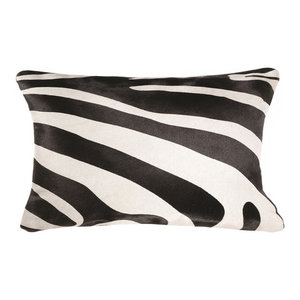 Deena Black And White Contemporary Throw Pillow