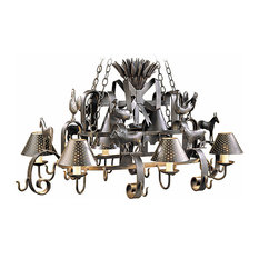 Barnyard Wrought Iron Chandelier