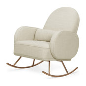 Compass Rocker, Light Gray Weave With Rose Gold Legs, Oatmeal Weave