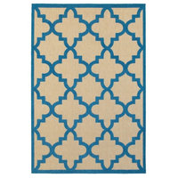 """Area Rug, Sand and Blue, 7'10""""x10'10"""""""