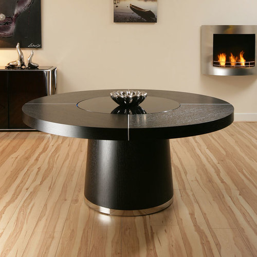 The Iconic White High Gloss Round Dining Table With LED Lighting