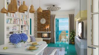 Гостиная комната в средиземноморском стиле