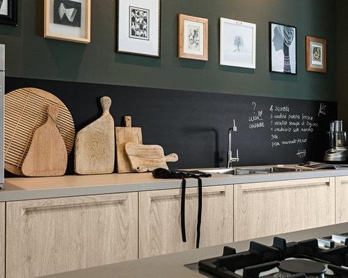 Schienale cucina e cappa con vernice lavagna hr alta resistenza - Vernice lavabile cucina ...