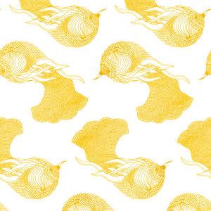 Atelier Mouti Paper Peint Series #28 Wallpaper, Mustard, Medium