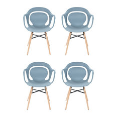 Chuck Dining Chairs, Blue-Grey, Set of 4
