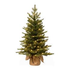 "National Tree Company ""Feel Real"" Nordic Spruce Small Tree, Burlap, 3'"