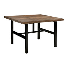 Pomona - Metal & Reclaimed Wood Dining Table Rustic Natural