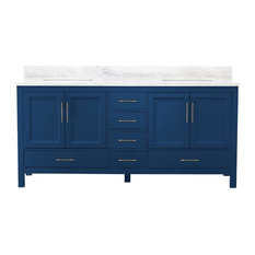Kendall Blue Bathroom Vanity, 72""
