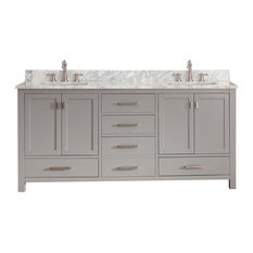 "Avanity Modero 73"" Double Vanity, Chilled Gray Finish"