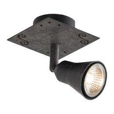 Rustic Oxidised Ceiling Lamp, Halogen